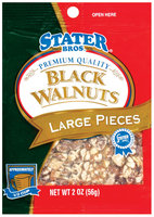Stater Bros. Large Pieces Black Walnuts 2 Oz Peg
