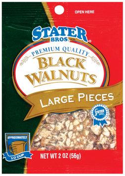 Stater Bros. Large Pieces Black Walnuts 2 Oz Peg