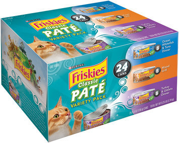 Purina Friskies Classic Pate Cat Food Variety Pack 24-5.5 oz. Cans