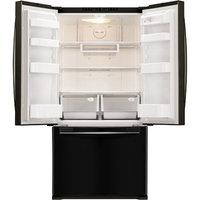 Samsung Refrigerator. 33 in. W 17.5 cu. ft. French Door Refrigerator in Black, Counter Depth RF18HFENBBC