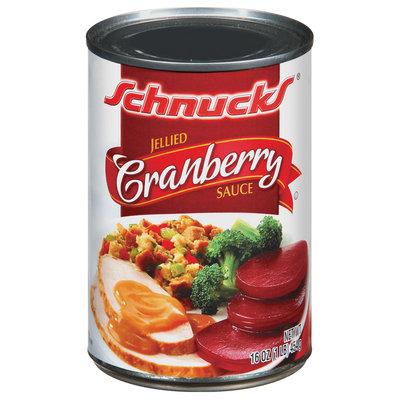 Schnucks Cranberry Jellied Sauce 16 Oz Can