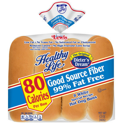 Healthy Life® White Special Recipe Hot Dog Buns 8 ct. Bag
