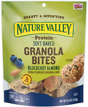 Nature Valley® Blueberry Almond Protein Soft Baked Granola Bites 8.4 oz. Pouch