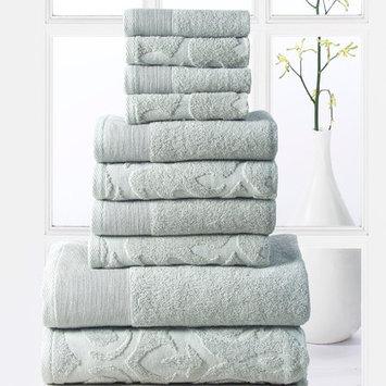 Affinity Linens Elegance Spa 10 Piece Towel Set, Jade