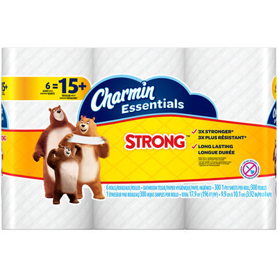 Essentials Strong Charmin Essentials Strong Toilet Paper 6 Giant Rolls