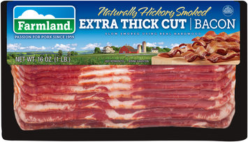 Farmland® Naturally Hickory Smoked Extra Thick Cut Bacon 16 oz. Package
