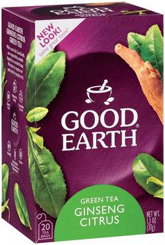 Good Earth Ginseng Green Tea W/Citrus Tea Bags 18 Ct Box