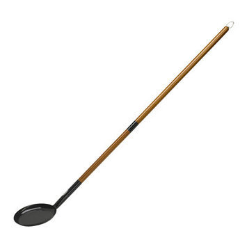 Bon-Fire 100091 Pancake Pan With Separable Wooden Handle, Black Enamel