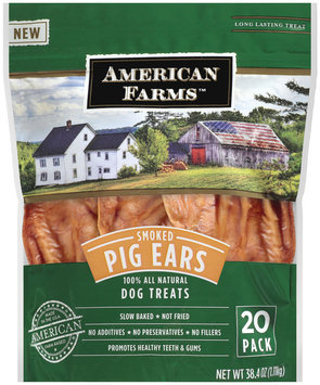 American Farms Smoked Pig Ears 20 ct