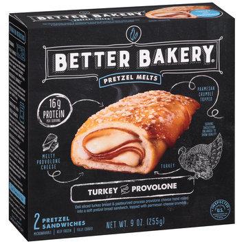 Better Bakery® Pretzel Melts Turkey and Provolone 9 oz. Box