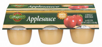Haggen 6 Ct Applesauce 24 Oz