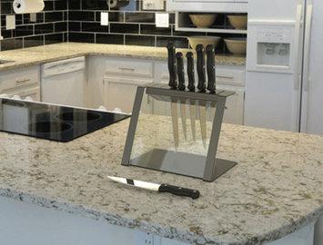 Decorpro Katana Modern Glass and Steel Knife Holder