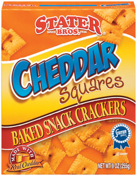 Stater Bros. Cheddar Squares Baked Snack Crackers 9 Oz Box