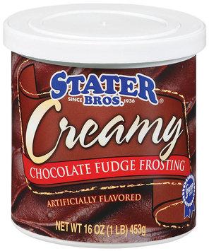 Stater Bros. Chocolate Fudge Creamy Frosting 16 Oz Tub