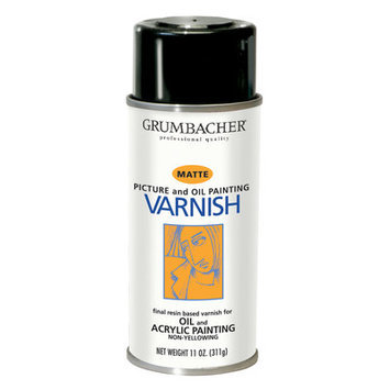 Grumbacher GB542 11Oz Damar Matte Varnish Spray