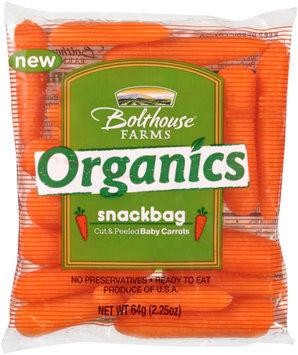 Bolthouse Farms® Organics Cut & Peeled Baby Carrots 4-2.25 oz. Snackbags