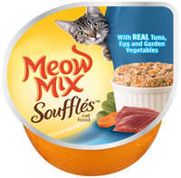Meow Mix Souffles with Real Tuna, Egg and Garden Vegetables Wet Cat Food, 2.75-Ounce