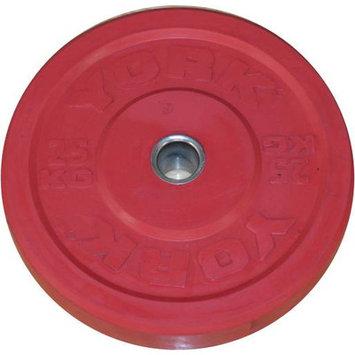 York Barbell Training Bumper Plate Weight: 55 lbs