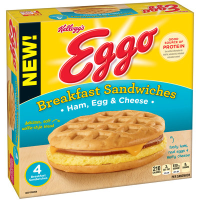 Kellogg's Eggo Ham, Egg & Cheese Breakfast Sandwiches