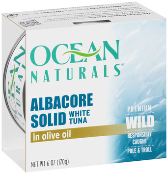 Ocean Naturals® Albacore Solid White Tuna in Olive Oil 6 oz. Sleeve