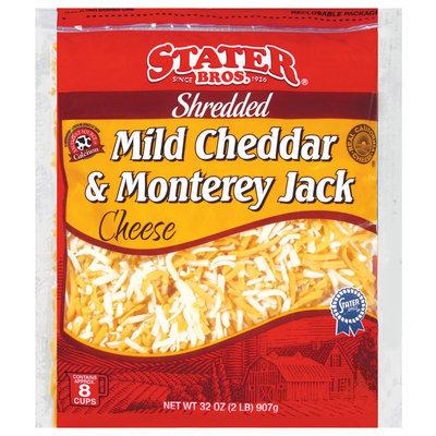 Stater Bros. Shredded Mild Cheddar & Monterey Jack Cheese 32 Oz Bag
