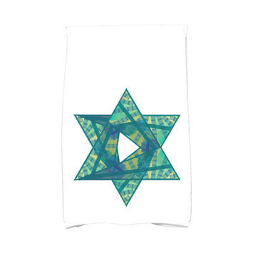 The Holiday Aisle Star Mosaic Hand Towel Color: Teal