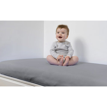 B.sensible All in One Baby Crib Sheet Color: Grey