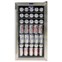 Whynter Compact Refrigerator 17 in. 120 (12 oz.) Bottle Beverage Refrigerator in Black/Stainless Steel BR-130SB