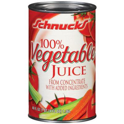 Schnucks 100% Vegetable Juice 46 Fl Oz Can