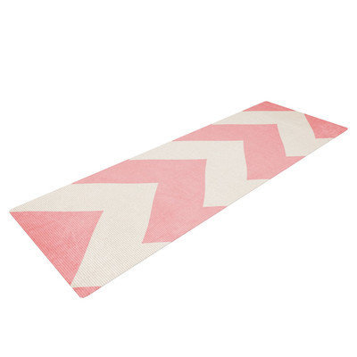 Kess Inhouse Sweet Kisses by Catherine McDonald Chevron Yoga Mat
