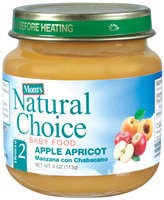 Mom's Natural Choice Baby Food Apple Apricot 4 oz Jar