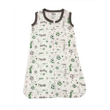 Bacati Soccerball Muslin Sleep Sack Size: Small