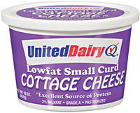 United Dairy® Lowfat Small Curd Cottage Cheese 16 oz Tub