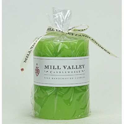 Mill Valley Candleworks Green Pear Scented Pillar Candle Size: 4