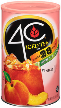 4C® Peach Iced Tea Mix 70.3 oz. Canister