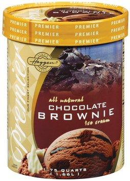 Haggen Premier All Natural Chocolate Brownie Ice Cream 1.75 Qt Carton