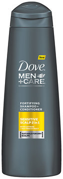 Dove® Men+Care® Sensitive Scalp 2 in 1 Fortifying Shampoo + Conditioner 12 fl. oz. Bottle
