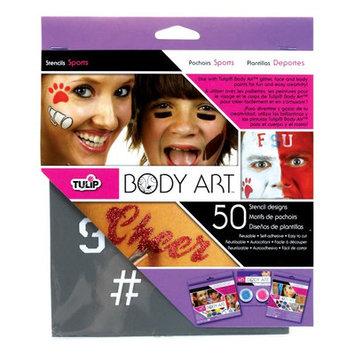 Tulip D28834 Body Art Stencil Pack Sports