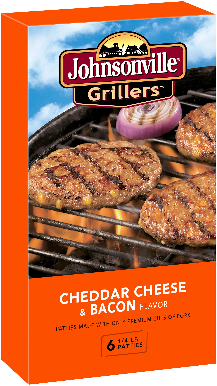 Johnsonville® Grillers Cheddar Bacon Brat Patties