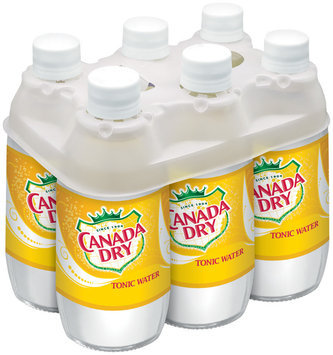 CANADA DRY 10 Oz Tonic Water 6 PK GLASS BOTTLES