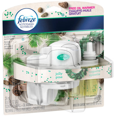 Noticeables Febreze NOTICEables Jolly Pine Oil Refill and Warmer Air Freshener (1 Count, 0.87 Oz)