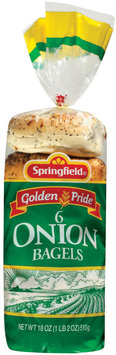 Springfield Onion 6 Ct Bagels 18 Oz Bag