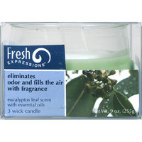 Candle lite 9 Oz 3 Wick Eucalyptus Scented Leaf Jar Candle