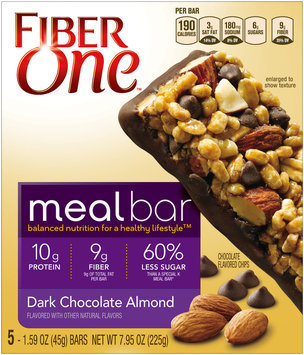 Fiber One Dark Chocolate Almond Meal Bars