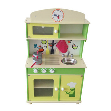 Merske Llc Berry Toys My Cute Green Wooden Play Kitchen