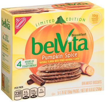 belVita Limited Edition Pumpkin Spice Breakfast Biscuits 5-1.76 oz. Packs