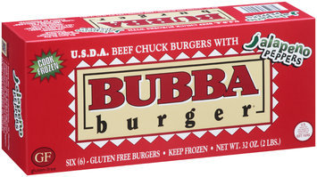 Bubba Burger® with Jalapeno Peppers Burgers 6 ct Box