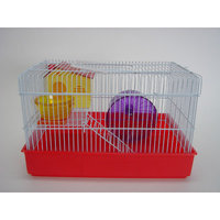 YML H810RD 2 Level Hamster Cage in Red
