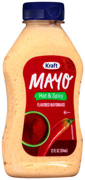 Kraft Mayo Hot & Spicy Mayonnaise 12 fl. oz. Bottle