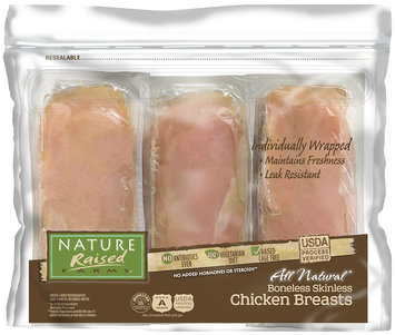 Nature Raised Farms® Individually Wrapped All Natural Boneless Skinless Chicken Breasts Pack